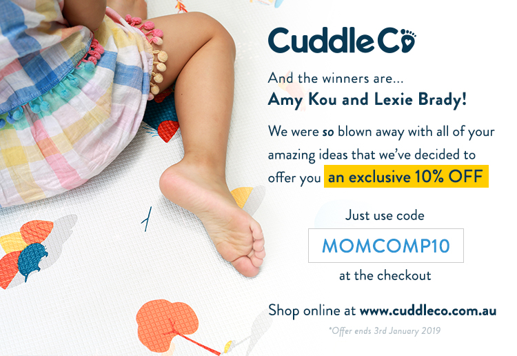Win 1 of 2 CuddleCo Play Mats for Christmas
