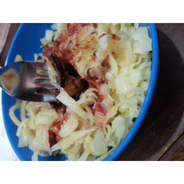 Homemade spagetti recipe with a creamy tomato sauce