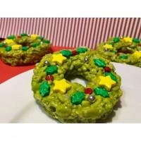 Rice Bubble Christmas Wreaths