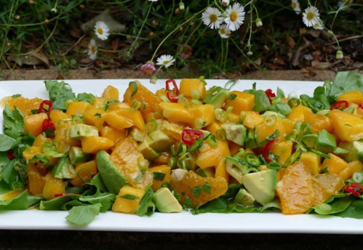Summer Mango, Avocado and Orange Salad