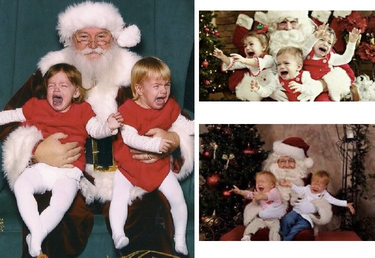 tessie reviewed The Funniest Santa Photo Fails Ever!