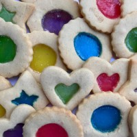 Festive Stain Glass Cookies