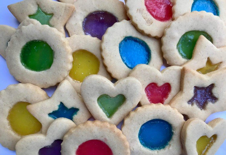 youngoldlady reviewed Festive Stain Glass Cookies