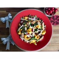 Roasted Chicken & Mango Salad with Zesty Pomegranate Vinaigrette