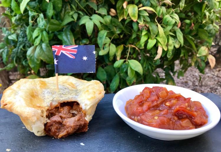 Beef & Mushroom Pies with Chunky Tomato Relish
