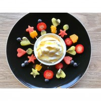 Little Fruit Skewers with Honeyed yoghurt
