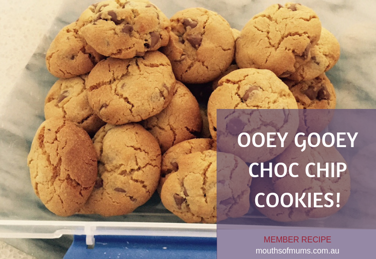 Ooey gooey yummy chewy choc chip cookies!
