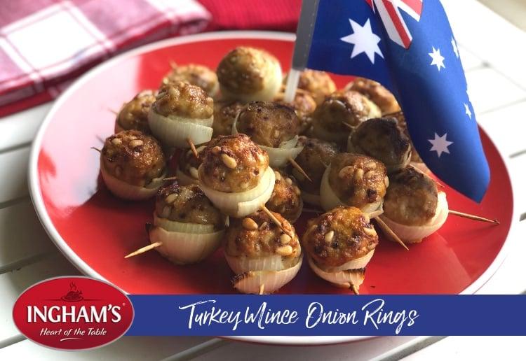 Turkey Mince Onion Rings
