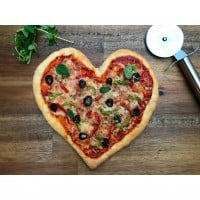 Heart Pizzas with Herb Bases