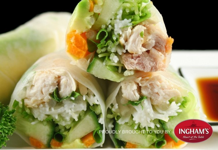 Vietnamese Chicken Cold Rolls