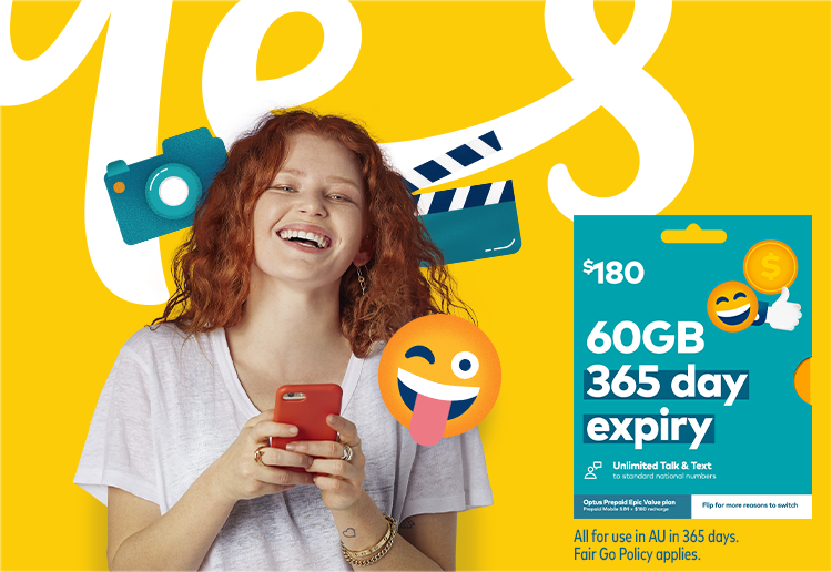 Optus Prepaid Sim – Epic Value Plan