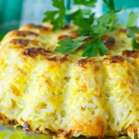 Chicken and Cheese Rice Pie