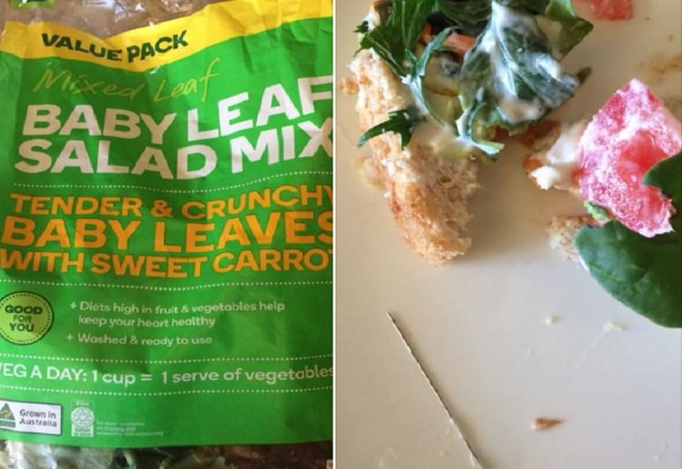 mom350461 reviewed NSW Woman Allegedly Finds Needle in Woolworths Salad Mix