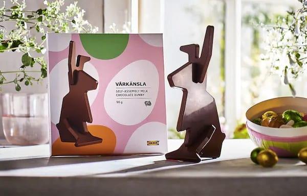 ikea flat pack chocolate Easter bunny