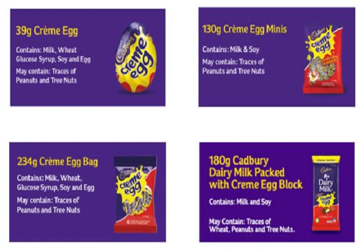 Jen2019 reviewed Allergy Alert Issued for Cadbury Creme Egg