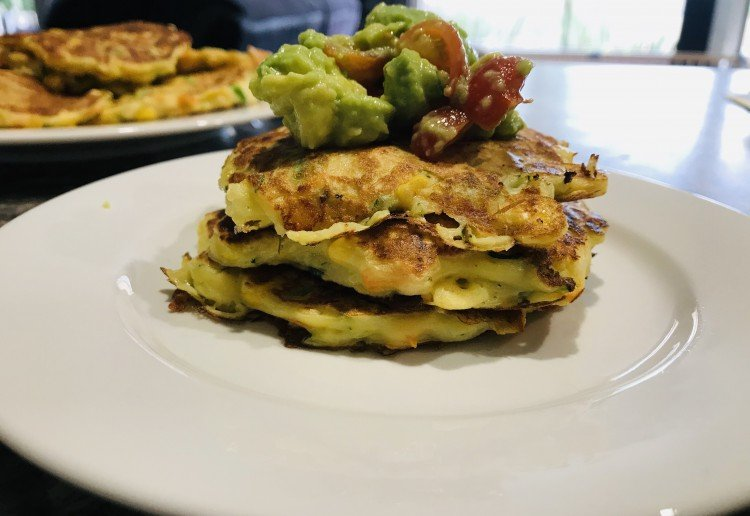 Vegetable Fritters with Salsa