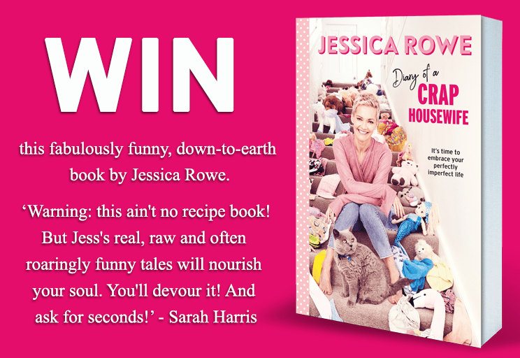 WIN One Of 20 Copies Of Diary of a Crap Housewife By Jessica Rowe