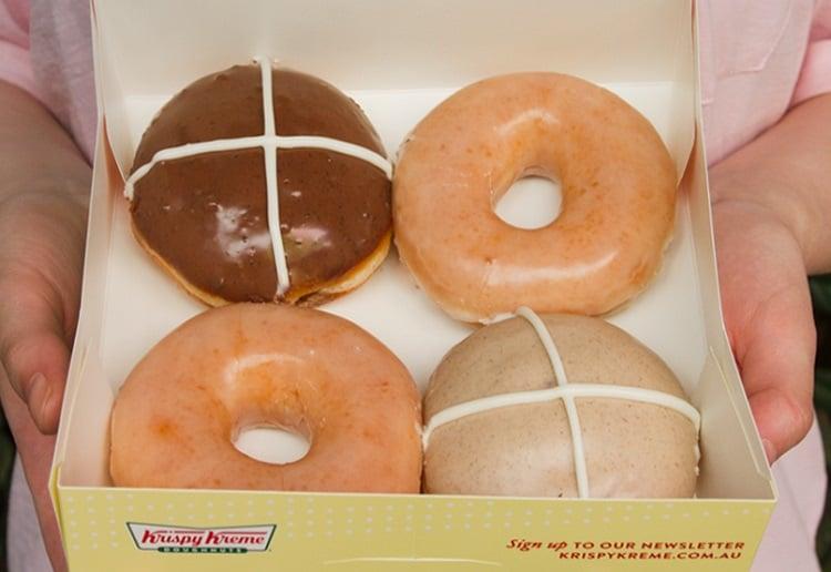 mom93821 reviewed Where to Pick up Your FREE Krispy Kreme Hot Cross Doughnut