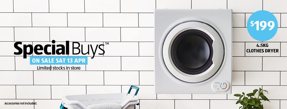 clothes dryer aldi