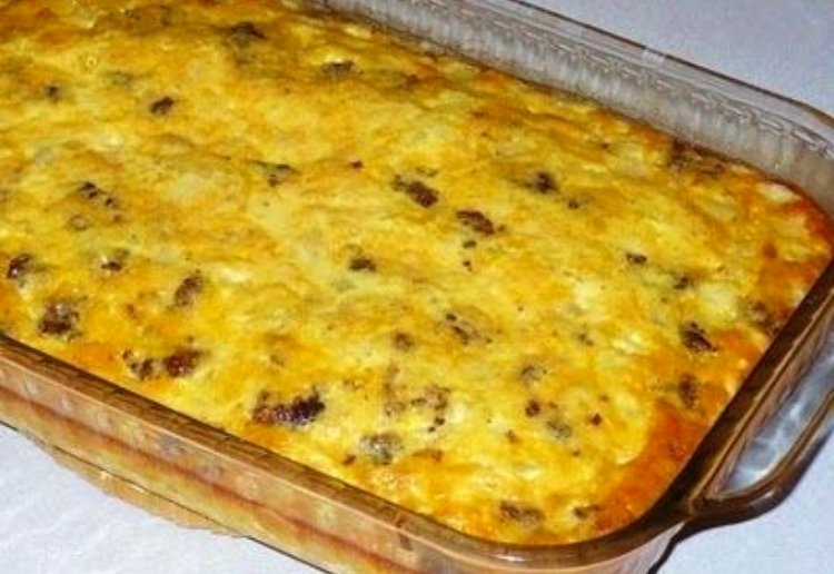 Hash Brown and Spaghetti Pie