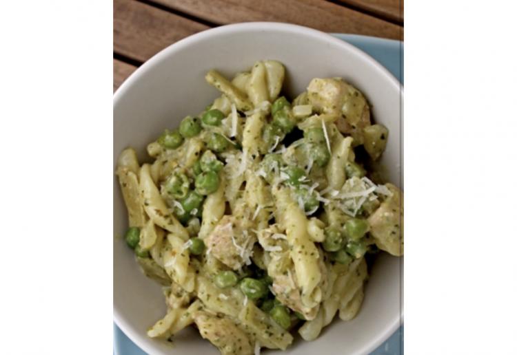 Chicken Basil Pesto pasta