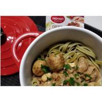Easy Chicken Meatballs & Mushroom Stroganoff