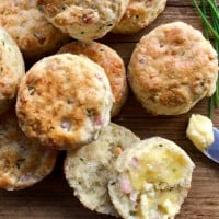 Cheese Chive and Bacon Savoury Scones