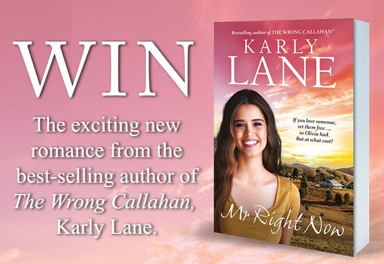 Win 1 Of 20 copies Of Mr Right Now By Karly Lane