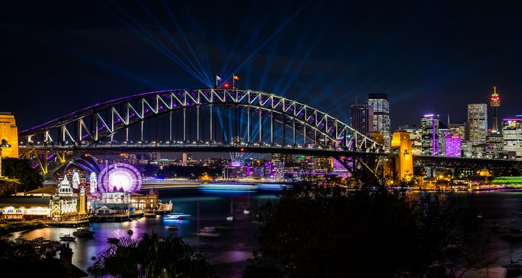 Vivid Takes Over The Luna Park Precinct