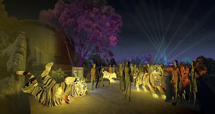 The Vivid Festival At Taronga Zoo