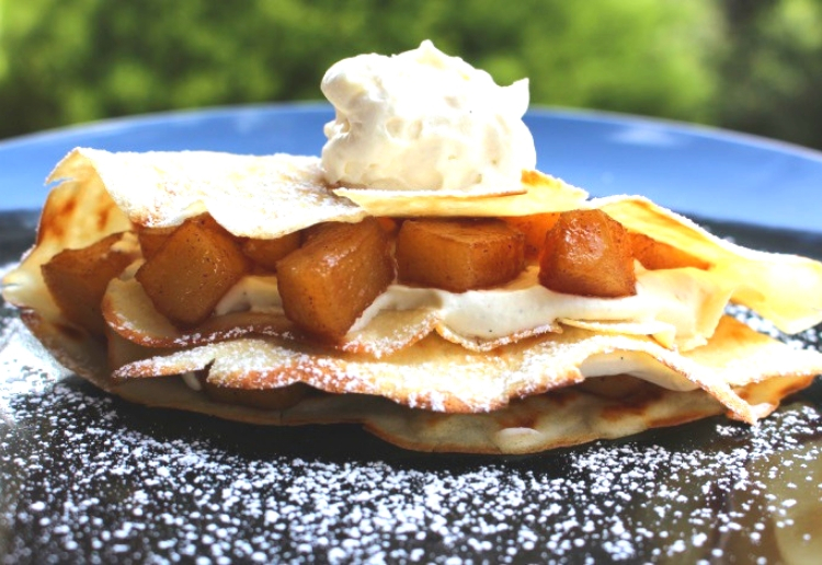 Cookfromscratchmum reviewed Crepes with Caramel Apples and Whipped Cream