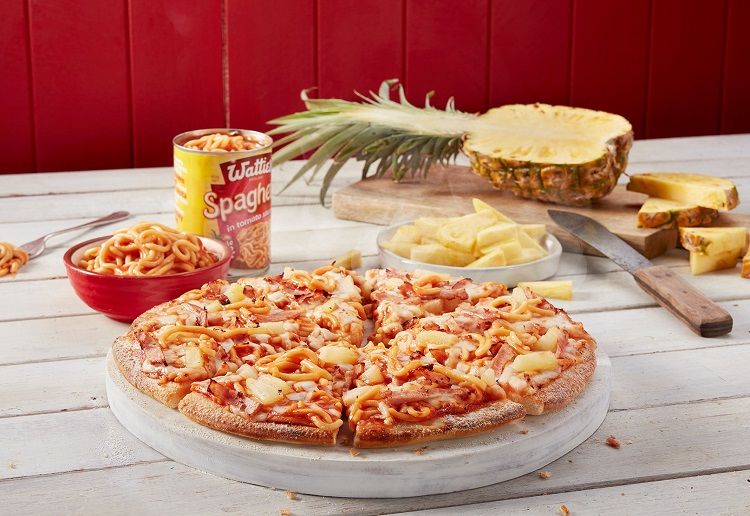 Domino's New Pizza Topped With Spaghetti