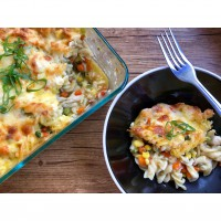 Loaded Chicken Pasta Bake