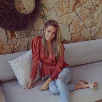 Jen Hawkins Let's The Baby Bump 'All Hang Out'