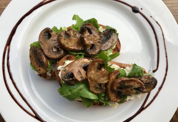 Oven Roasted Mushroom Bruschetta