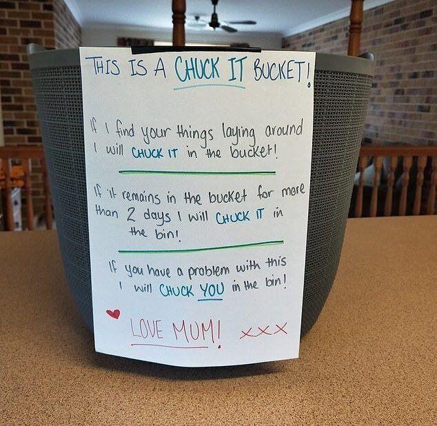 chuck it bucket