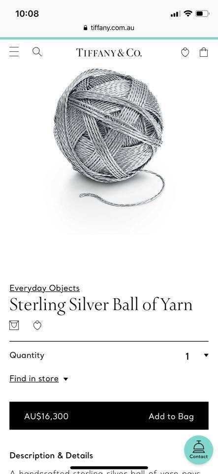 silver yarn