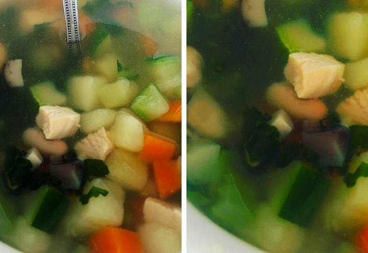 Cecile's Homemade Chicken and Veggie Soup