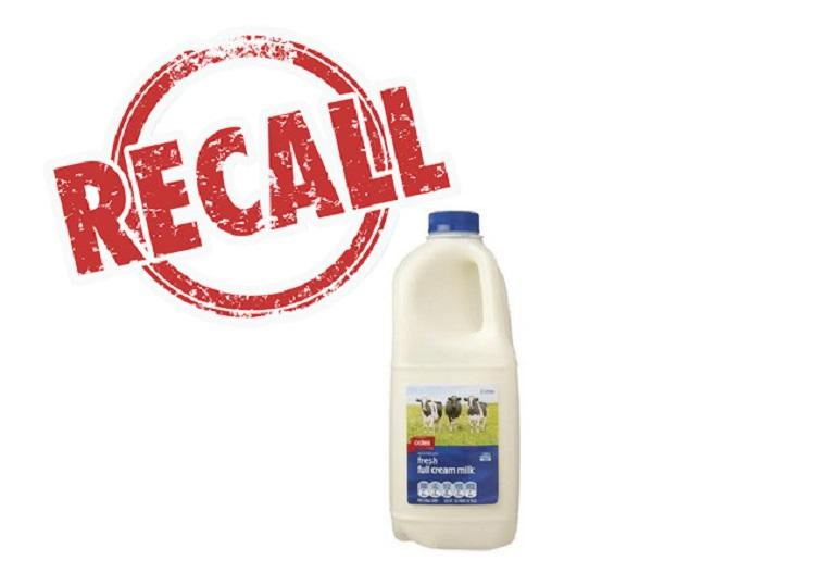 coles milk recall