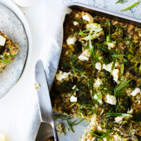 Broccoli, Feta & Quinoa Slice