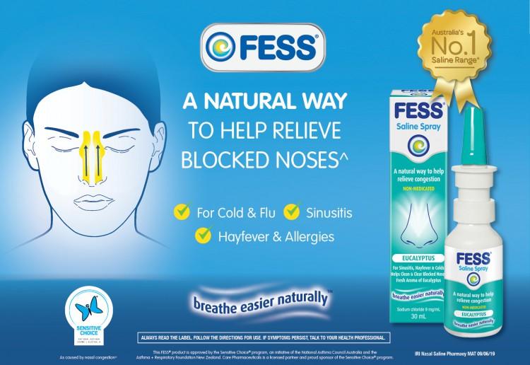 FESS<sup>®</sup> Eucalyptus Nasal Saline Spray