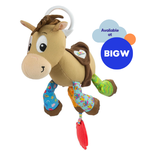 Bullseye Clip n Go soft toy available at Big W