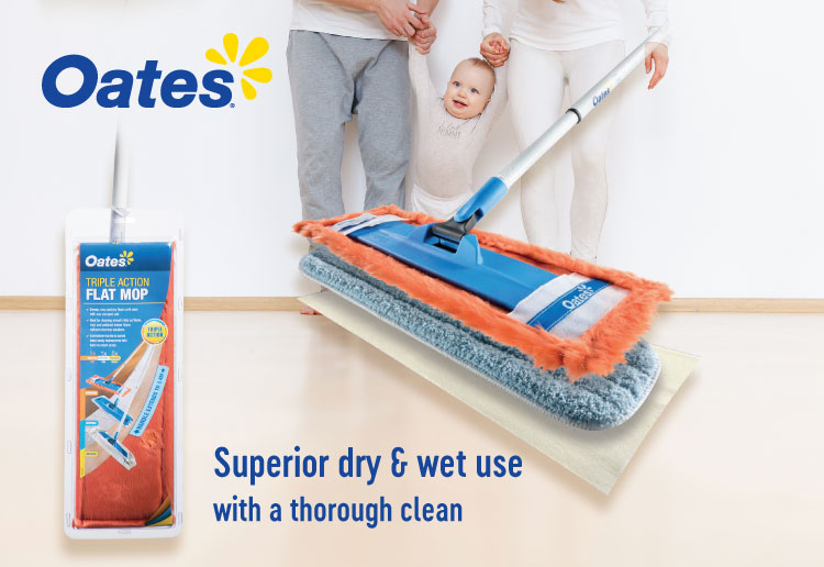 Oates Triple Action Flat Mop