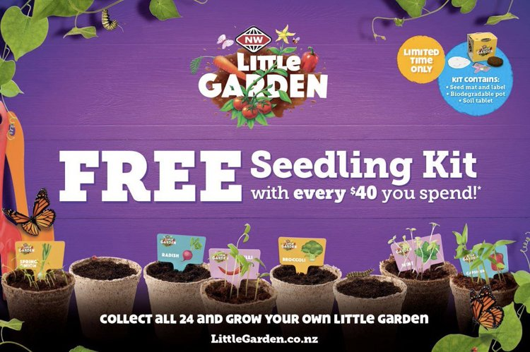 New World Little Garden promotion