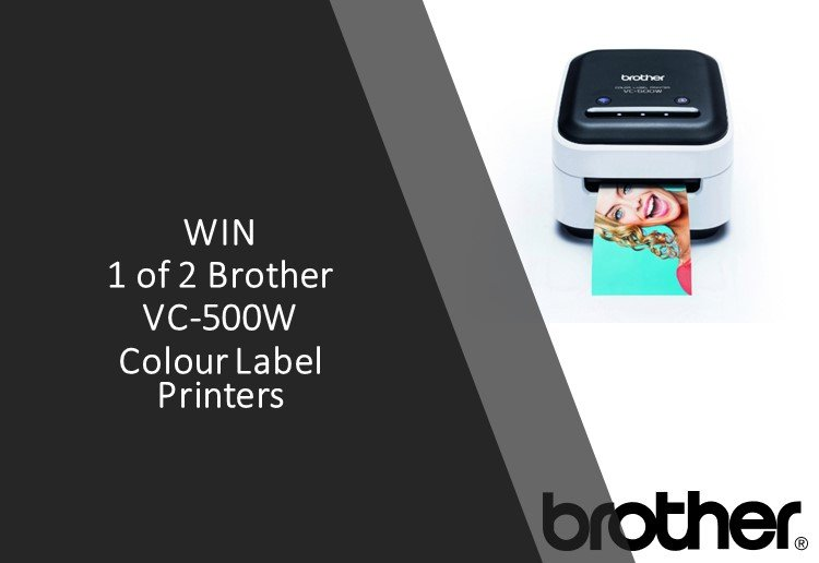 Brither laser colour printer on a black and white background