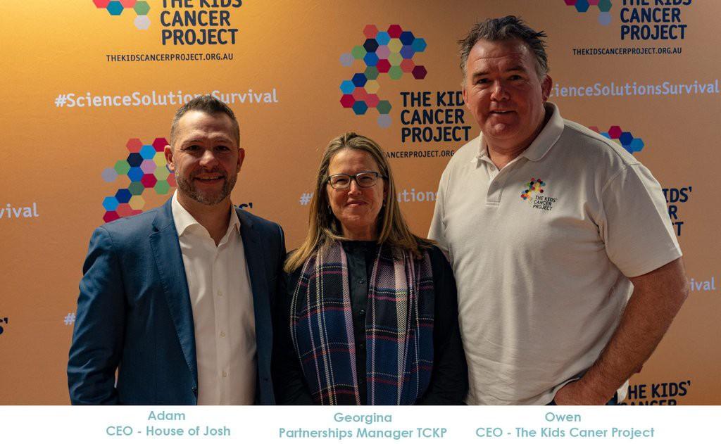 three house of josh representatives kids cancer project backdrop