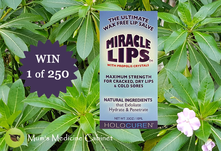 WIN image miracle lips box and a bed of green leaves