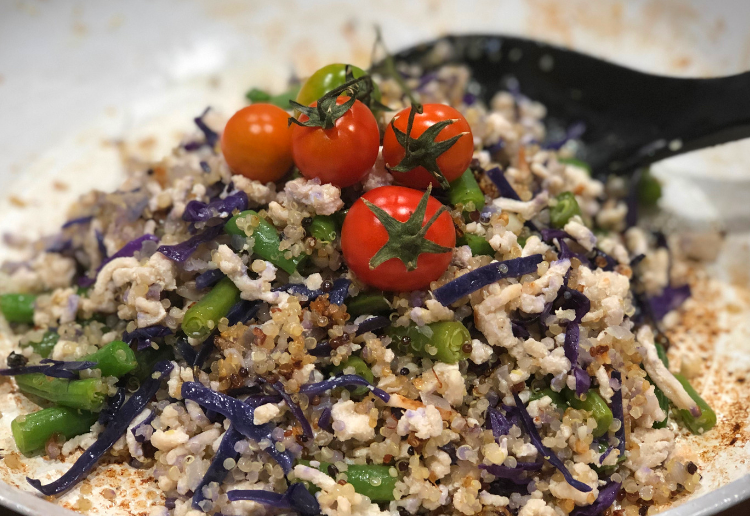 Quinoa Salad with Turkey and Fetta