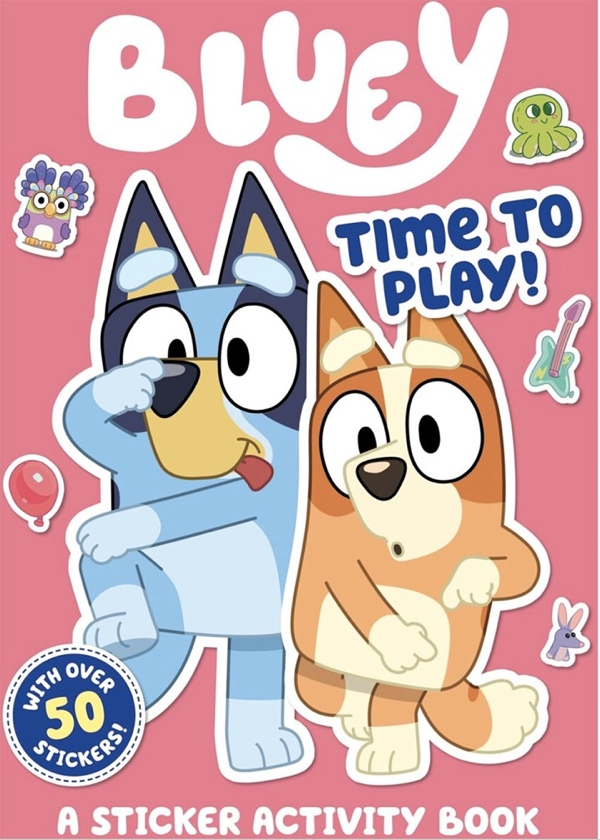 Bluey Plush Toys and sticker book now available for pre-order