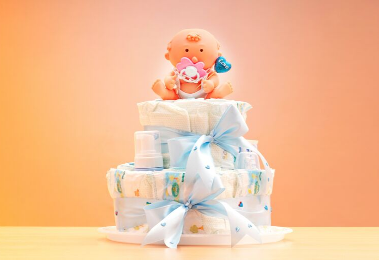 DIY Nappy Cake Gift for Baby Showers